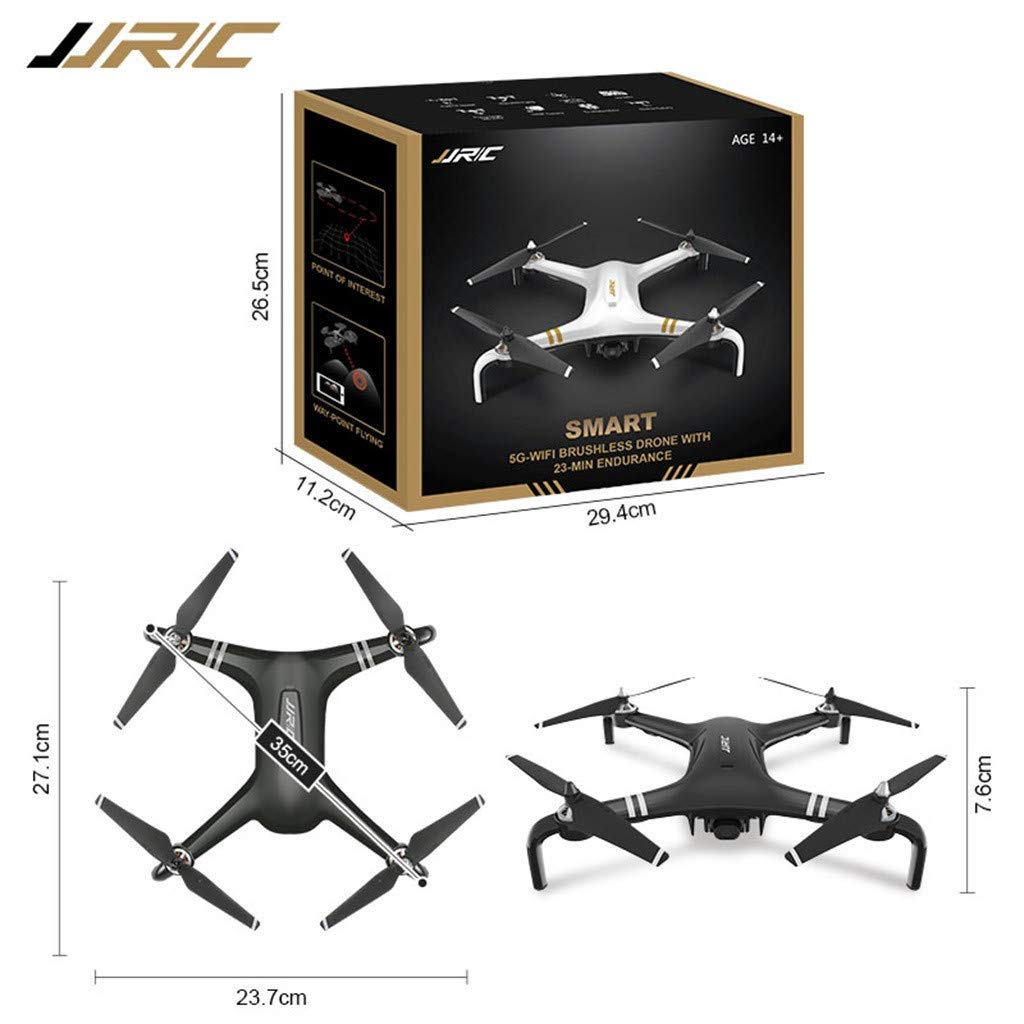 MOZATE JJRC X7 5G-WiFi FPV GPS 1080P HD Camera Remote RC Drone Quadcopter Altitude Hold (Black) by MOZATE (Image #5)