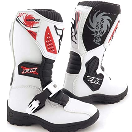 Botas de Motocross para niños FM, Color Blanco: Amazon.es ...