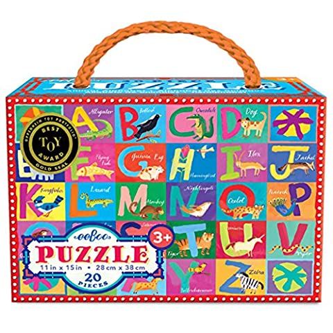 eeBoo Animal Alphabet Puzzle, 20 pieces (And The Winner Is Jigsaw Puzzle)