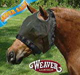 Weaver Leather DELUXE FLY MASK W/O EARS,MD,BK