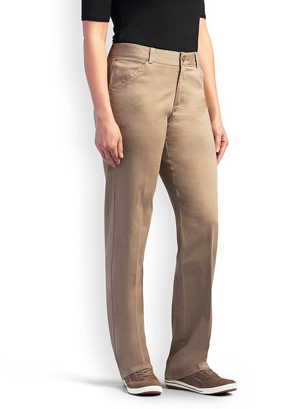 Lee Womens Petite Midrise-Fit Total Freedom Pant