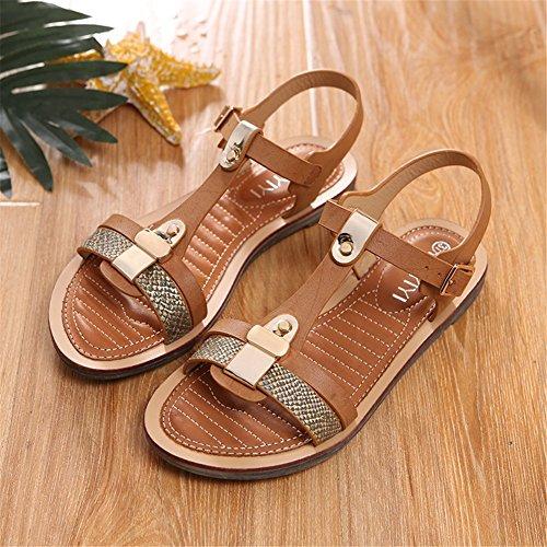 T Tacco Summer Da Piatto New Sandali Scarpe Spring Cinturino C Con Fibbia strap Semplici Donna Rome SRn7qBwq