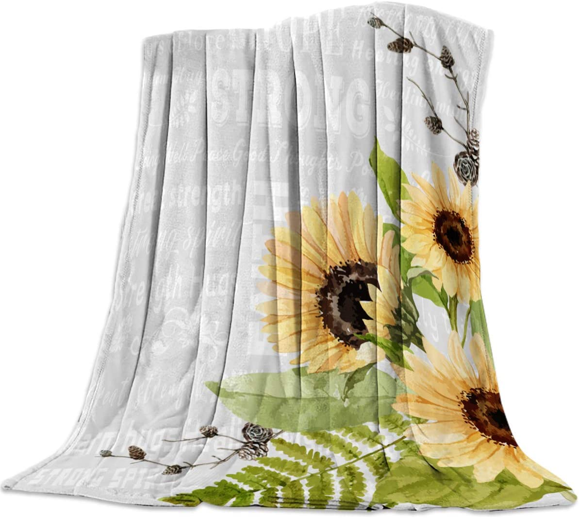 All Season Bed Blanket - Sunflowers