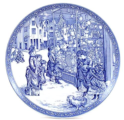 Spode Blue Room Collection Victorian Series Christmas Plate Number 4 England Blue White Transferware