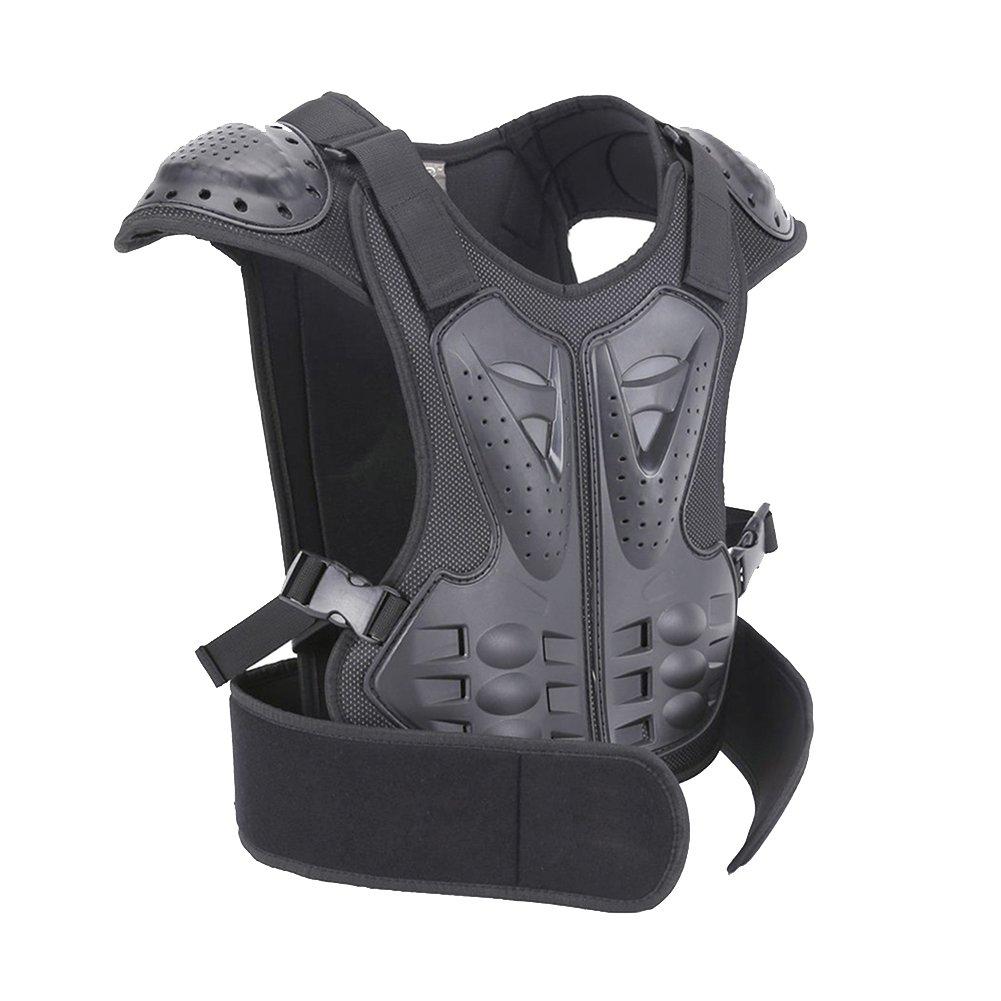 BARHAR Kids Dirt Bike Body Chest Spine Protector Armor Vest Protective Gear for Dirtbike Bike Motocross Skiing Snowboarding Black (XL for height 57''-61'')
