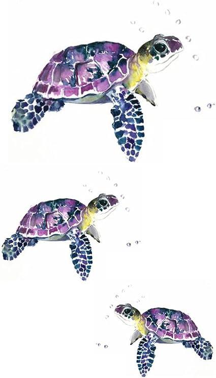 wyuen 5 hojas tortuga Kids Body Art adhesivo de ballena para ...