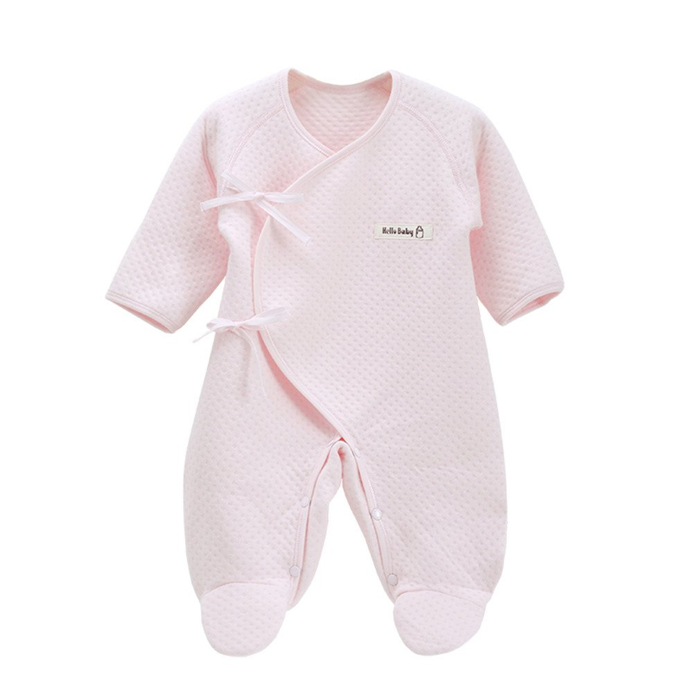 EsTong Unisex Preemie Baby Newborn Onesie Bodysuit Romper Long Sleeve Cotton