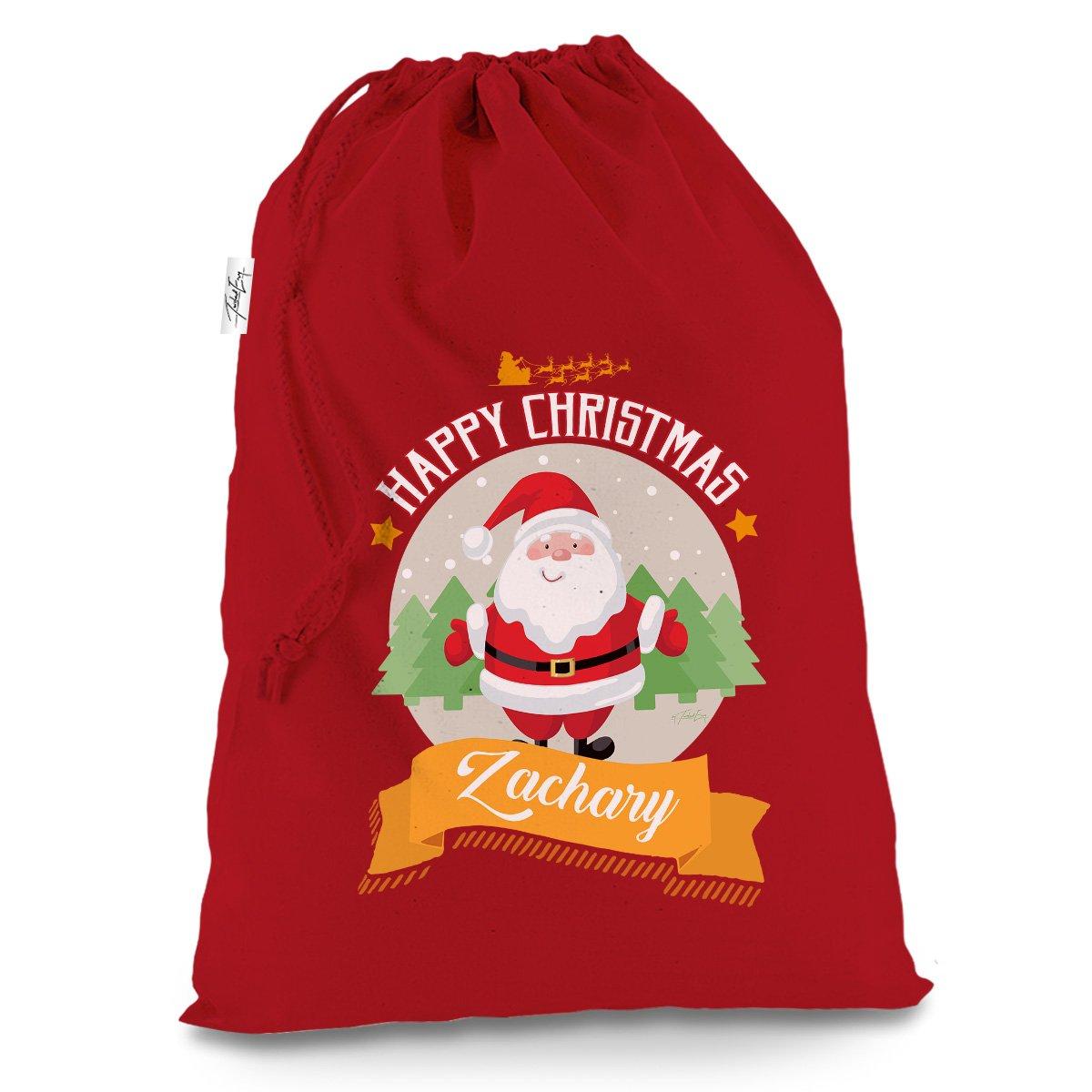 Personalised Merry Christmas From Santa Large Red Christmas Present Santa Sack Mail Post Bag