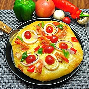 Non Stick Pizza Pan Round Pizza Baking Tray Deep Dish Pizza Pan for Oven Anodized Aluminum Alloy