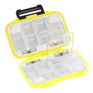 10 Fishing Lure Compartments Storage Case Box Plastic Fish Lure Bait Tackle  Lt