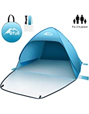 BFULL Pop Up Tent Beach Tent for 2-4 Man, Automatic Sun Tents Anti UV Compact Tent for Beach, Garden, Camping, Fishing, Picnic