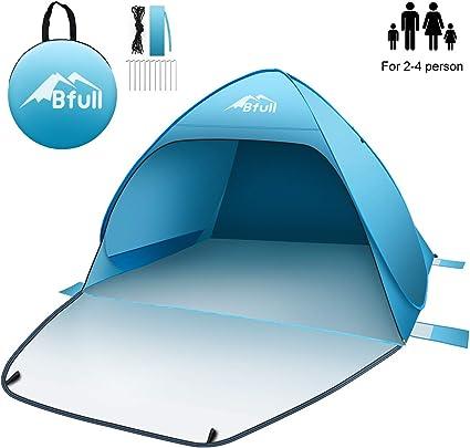 Bfull Strandmuschel mit Einer Abschließbaren Tür und UV 50 Sonnenschutz