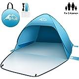 BFULL popup-tält strandtält för 2–4 personer, automatiska soltält anti-UV kompakt tält för strand, trädgård, camping…