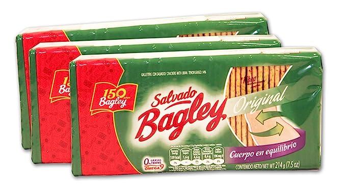 PACK de 3 Galletitas con Salvado de BAGLEY. 100% Argentinas. PACK de 3
