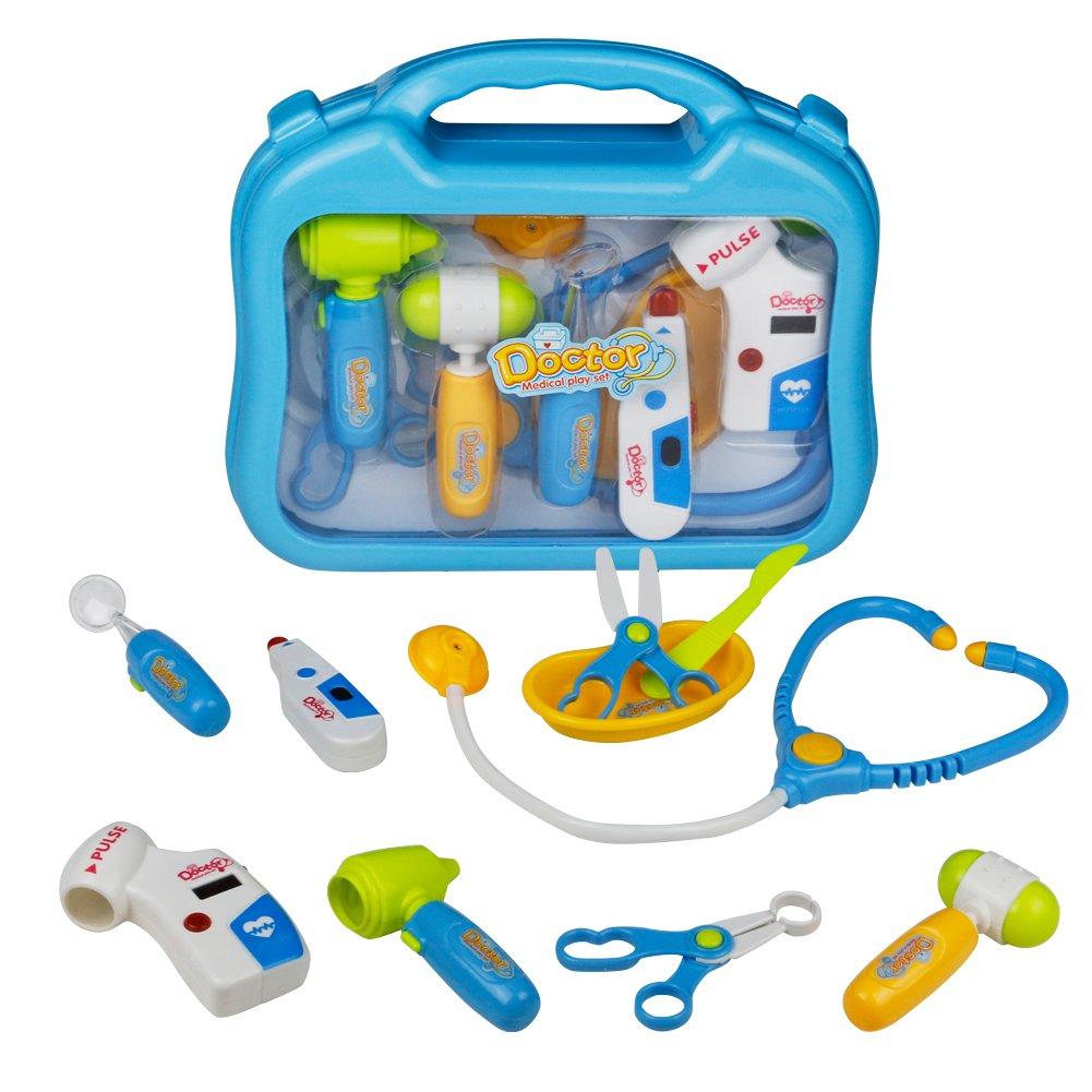 Doctor Set, Doctor Kit, Medical Kit Set for Kids over 3 Year Olds, Blue Set JIACHENGTOYS FACTORY