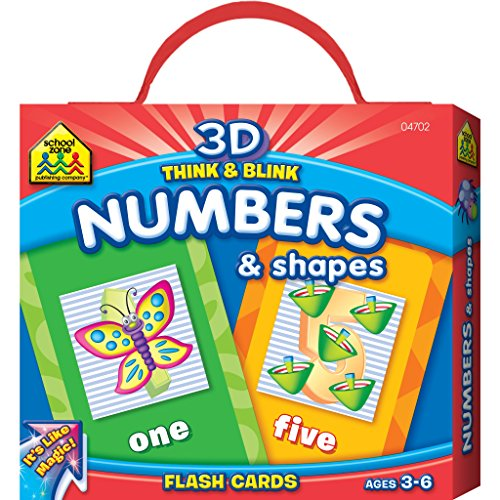 Lenticular Think & Blink Numbers & Shapes Flash Cards