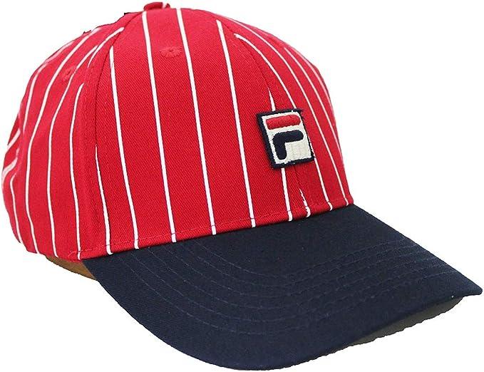 Fila Unisex Two Tone Striped Heritage Adjustable Baseball Cap hat ...