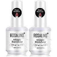 ROSALIND Magic Remover 2pcs 15ml Dissolvant pour Verni Semi Permanent,Remover Gel UV Nail Gel Polish Cleaner