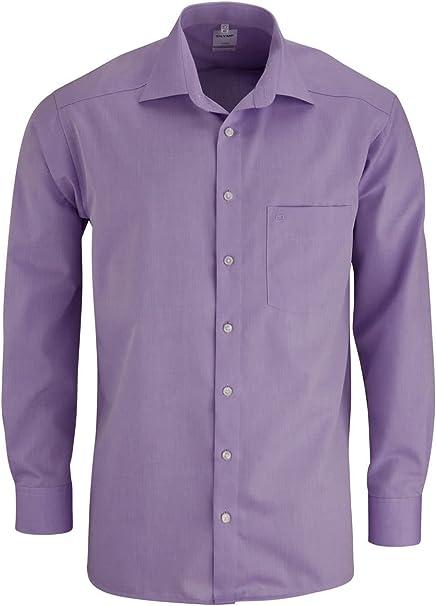 Hombre Camisa Modern Fit Manga Larga: Amazon.es: Ropa y accesorios