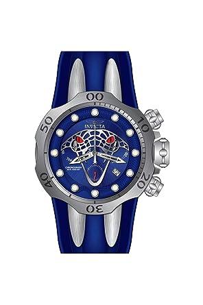 Invicta Venom Reloj de Hombre Cuarzo Suizo Correa de Silicona Color Azul 28383: Amazon.es: Relojes
