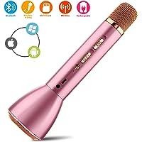 Micro Karaoké,Bluetooth Sans Fil Karaoke Microphone,Mini Portable Micro Karaoke Microphone Intégré usb pour Enfant Enceinte Chanter Home KTV Player Musique Système Android ios PC Smartphone