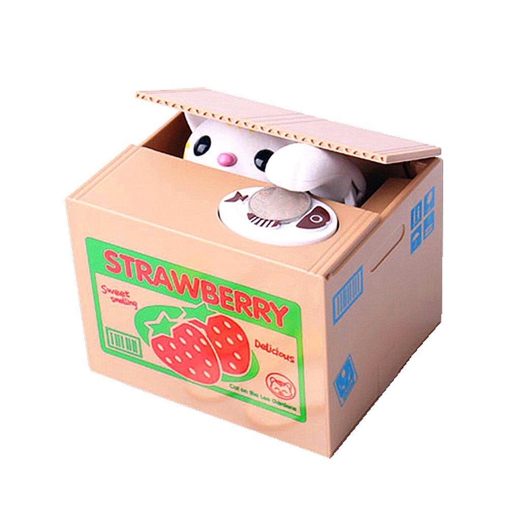 HuanX35 Money Box Cute Itazura Automatic Stealing Coin Cat Big Piggy/Saving Box/Bank/Pot Coins Bank