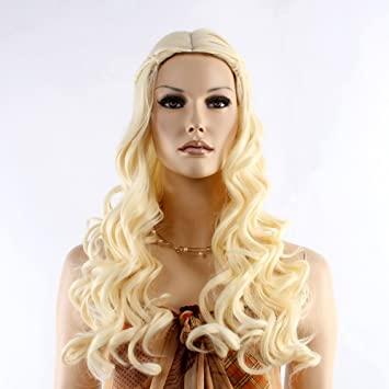 "Stfantasy Wigs for Women Long Curly Heat Resistant Synthetic Hair 23"" 247G Braided Band Wig"