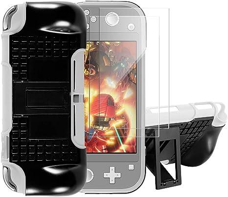 Shumeifang Funda para Nintendo Switch Lite, Funda Desmontable 2-en-1 TPU + PC Carcasa Doble Capa de Protección con Soporte, Anti-Choques/Arañazo, con 2 Piezas Protector de Pantalla - Blanco: Amazon.es: Videojuegos