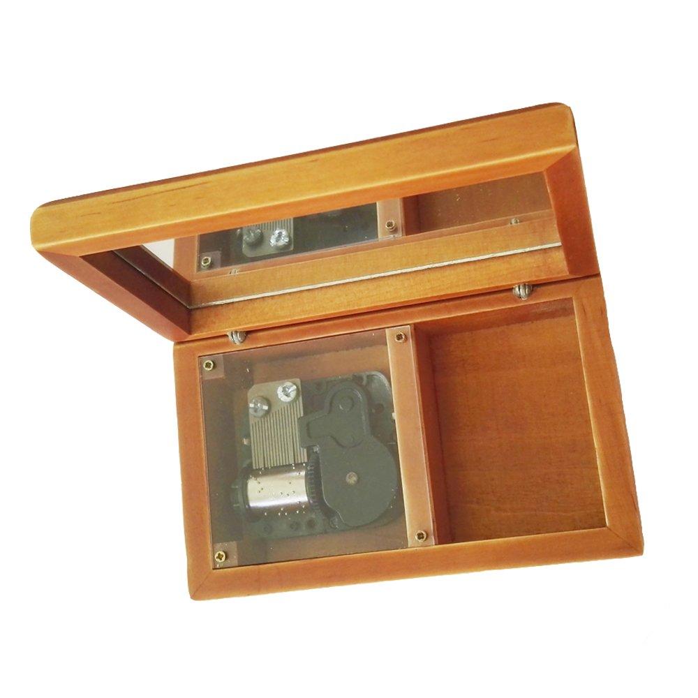 新しいコレクション 18 NoteアンティークレースWind - Up B075SZ2CC2 Wooden Musicalボックス、スモールサイズストレージ音楽ボックス、My Will Go Heart Will Go On音楽 シルバー B075SZ2CC2 Wood & Silvery, 山梨県:f410591d --- arcego.dominiotemporario.com