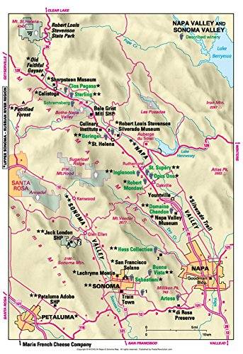 Michelin Official Napa and Sonoma Valley Map Art Print Poster