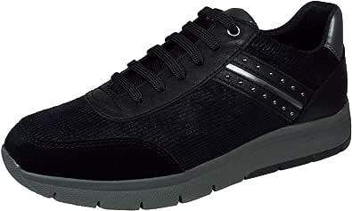 Zapatillas de Mujer Sneakers GEOX D CALLYN B en Ante Negro D929GB-0PWBC-C9999