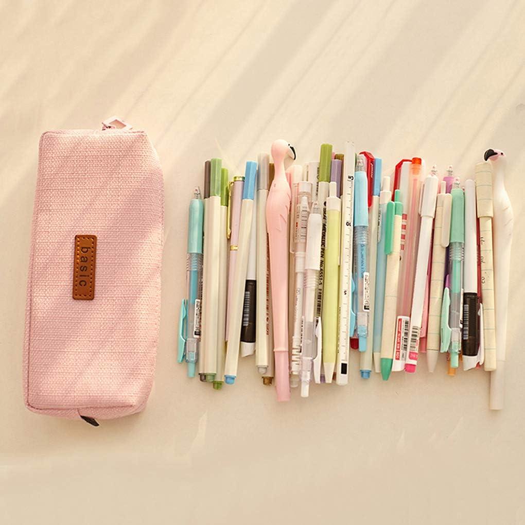 Rolin Roly Estuche Escolar Pequeña Bolsa Para Lapices Estudiante Plumier Lápices Bolsa Pencil Case (Gris): Amazon.es: Oficina y papelería