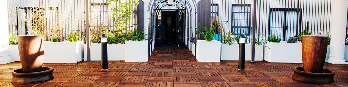 DeckWise Hardwood Deck Tiles (20'' x 20'' Chumaru)