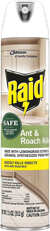 Raid Ant and Roach Killer, Aerosol Spray with Essential Oils (3)