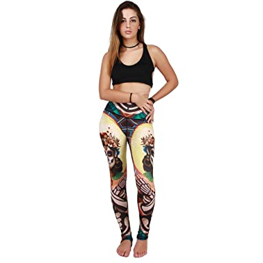 082120f939b7d Image Unavailable. Image not available for. Color: Witch Painting Yoga  Pants Leggings ...