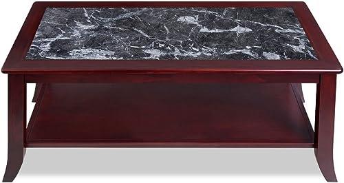 Olee Sleep Dark Emperador Natural Top Solid Coffee Real Marble/Classic/Stylish/Soild Wood Table