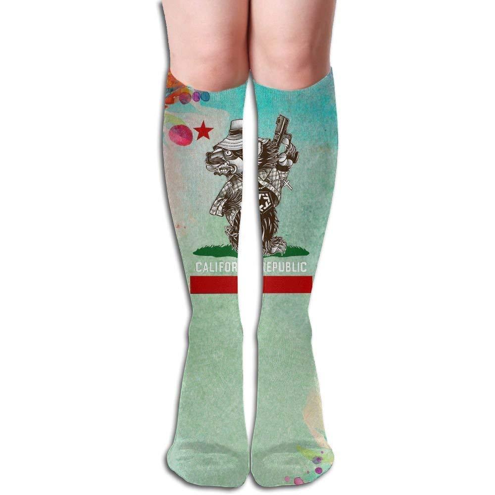 Compression Socks Tribal Cali Bear Unisex Full Socks Long Socks Knee High Socks Long 50cm)