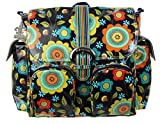 Kalencom Matte Coated Double Duty Diaper Bag, Floral Stitches