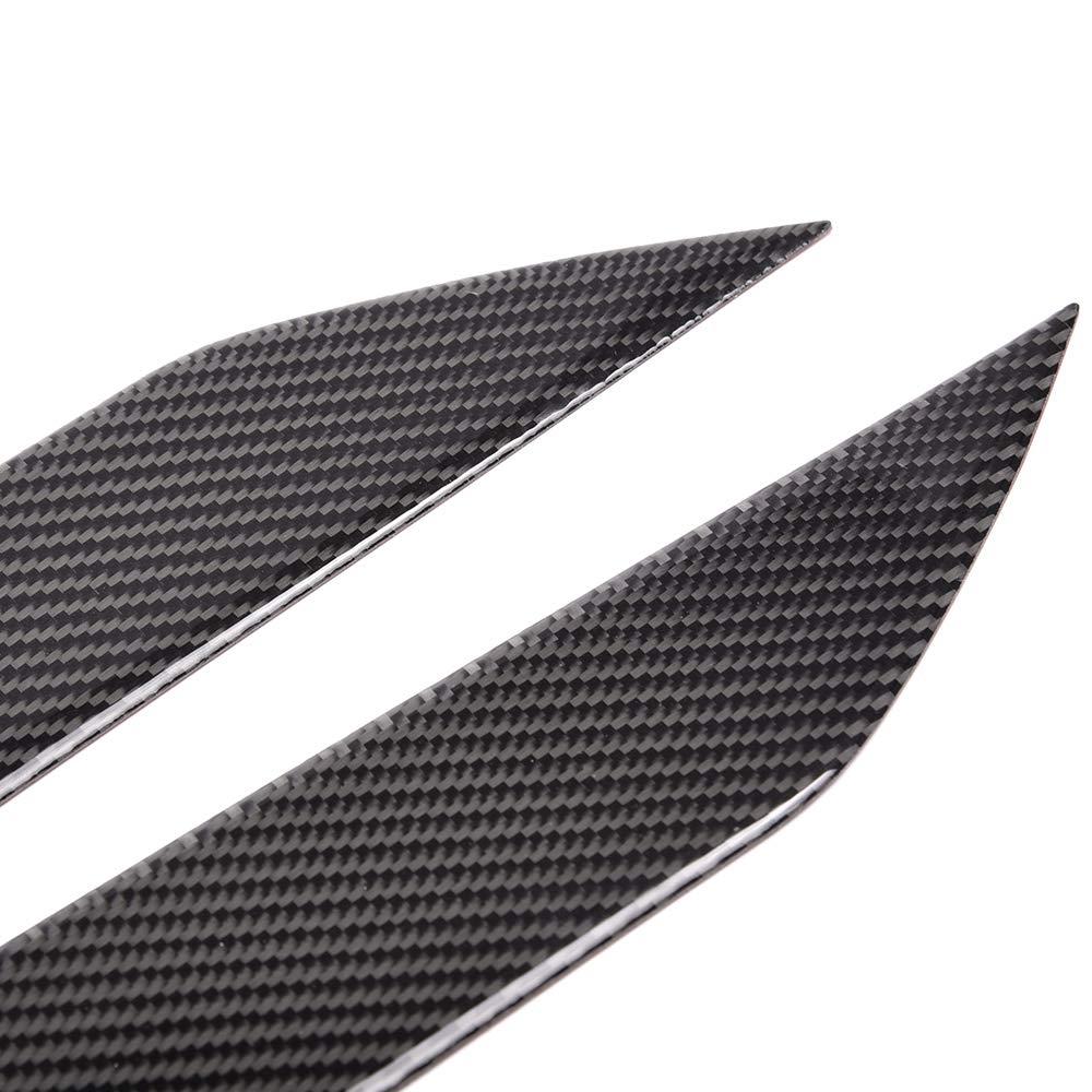 Speedmotor Black Carbon Fiber Left Right Headlight Eyelids Cover Trim for Nissan 350Z Fairlady Z33 2003-2008 2004 2005 2006 2007