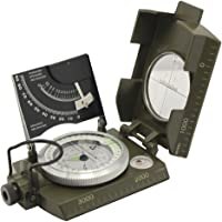 Ueasy Professional Multifunction Waterproof Metal Sighting Compass with Inclinometer - Green Color