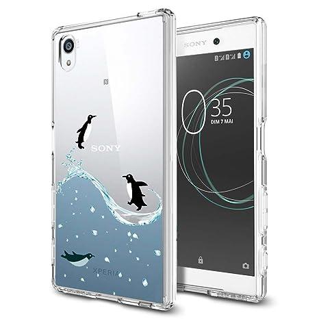 ocketcase Sony Xperia E6 / Xperia L1 Funda, TPU Carcasa Suave Silicona Flexible Gel Funda Resistente a los Arañazos Tapa Protectora Case Cover ...