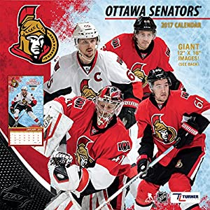 "Turner Licensing Sport 2017 Ottawa Senators Team Wall Calendar, 12""X12"" (17998011950)"