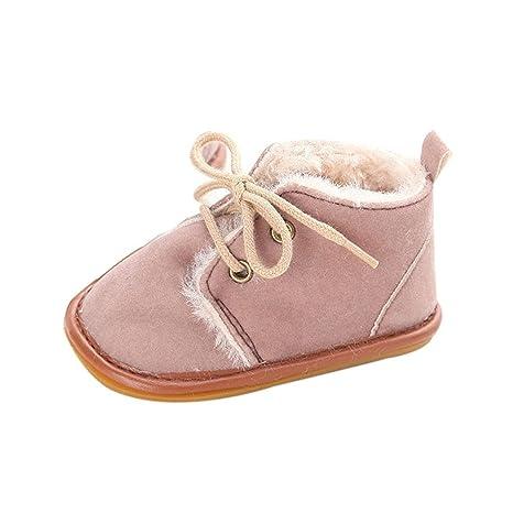 ac655beaa GenialES Patucos Botitas con Forro Polar para Bebé Calzado para Bebe  Primeros Pasos Suaves 9 a