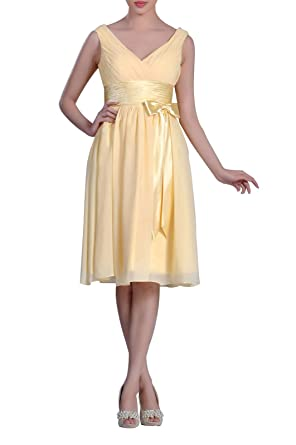 45209122e6d Adorona Natrual Straps Chiffon Cocktail Knee Length A-line Short Bridesmaid  Dress at Amazon Women s Clothing store