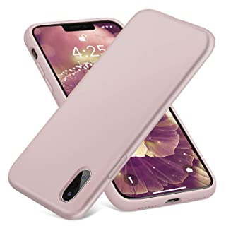 AOWIN Phone Case for iPhone XR Case Liquid Silicone Gel Rubber Bumper Shell with Anti-Scratch Microfiber Lining Hard Shell Shockproof Protective Case Cover for Apple Xr 6.1 Inches (Pink)