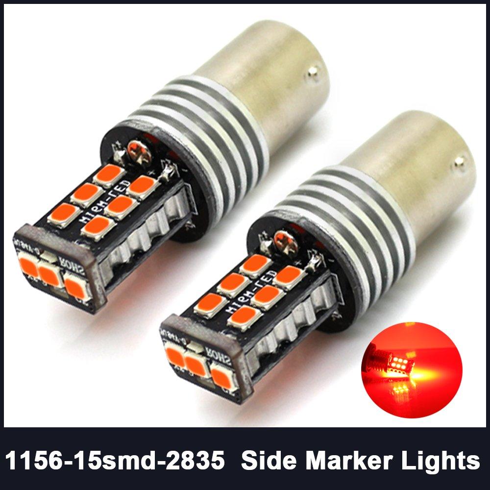 1156 P21W BA15S Backup Reserve Daytime Running Lights 15SMD 1141 7506 2835 LED Bulb Super Brighter Pack of 2 Xenon White 6000k CIIHON