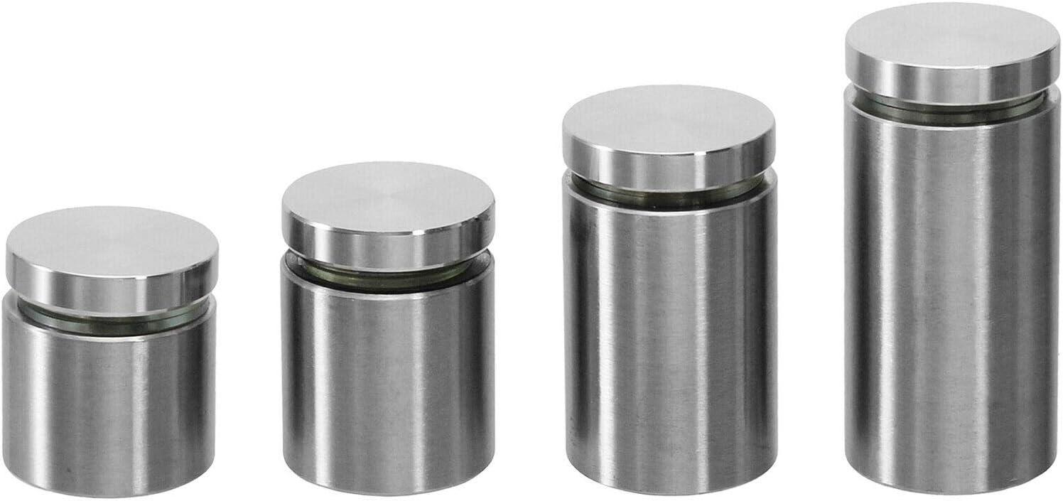 Wandabstand: 20mm 35mm 25mm Abstandshalter Edelstahl /Ø25mm Vollmaterial in 4 Gr/ö/ßen ausw/ählbar Wandabstand: 20mm 45mm
