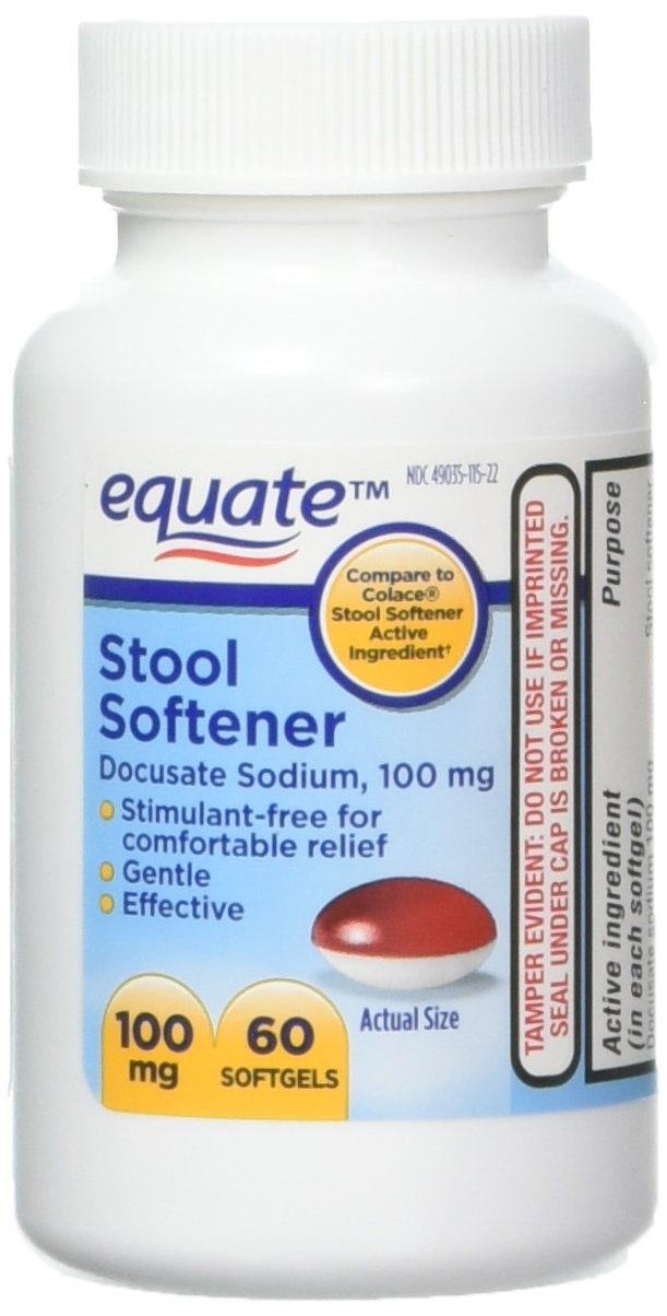 Equate - Stool Softener 100 mg, 140 Capsules (Compare to Colace) (2)