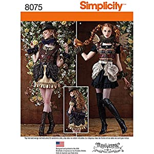 Steampunk Sewing Patterns- Dresses, Coats, Plus Sizes, Men's Patterns Simplicity Patterns Misses Steampunk Costumes Size: R5 (14-16-18-20-22) 8075 $5.00 AT vintagedancer.com