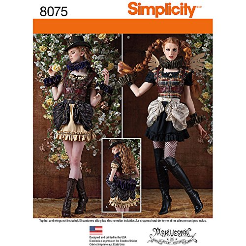 Easy Steampunk Costume (Simplicity Patterns Misses' Steampunk Costumes Size: R5 (14-16-18-20-22), 8075)
